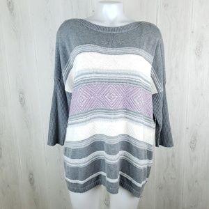 SONOMA Size L Multi Color Striped Oversize…